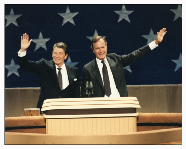 Reagan et Bush Sr à la Convention Nationale du Parti républicain de 1984